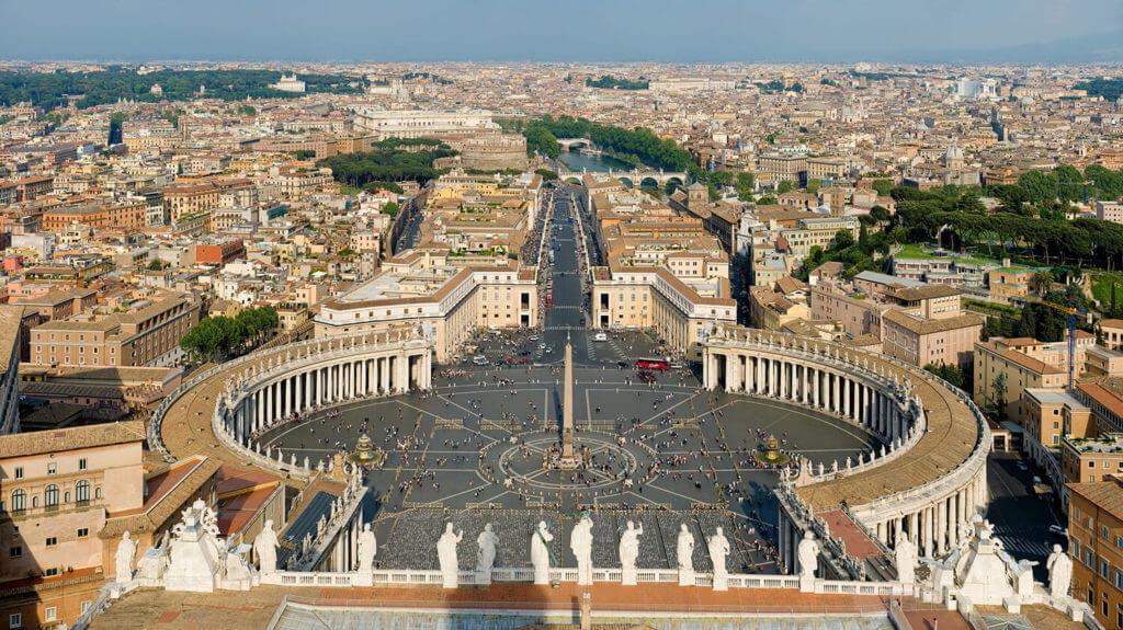 saint peter square rome vue aerienne